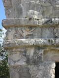 Face on the corner of Templo de Las Pinturas