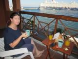 Room service breakfast - on the balcony