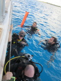 After the dive - ready to get back on board