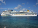 Different cruise ships every day - two are docked here