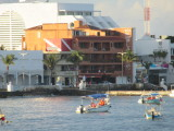 Spotted our hotel - the orangey one