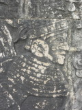 Carving of a ball player