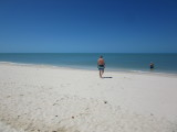 It was a hot day - time for a swim in the Gulf of Mexico