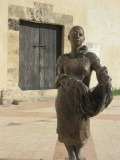 Bronze statues dotted around the walled city