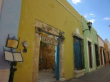 Old, colourful, colonial buildings