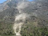 We see a rockfall
