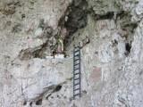 Inside a cave - an altar