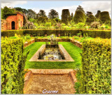 A Pond & Topiary Trees