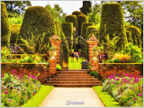 The Yew Topiary Garden with Ornate Gates