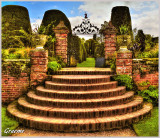 Steps & Gate into The Yew Garden