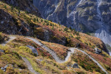 Colorful ascent to Roc de la Vache