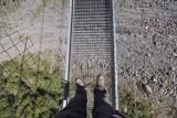 Look down from Charles Kuonen Bridge