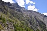 Looking back on Europahütte from Miesboden