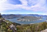 View from Monte Dan Giogio on Lago de Lugano