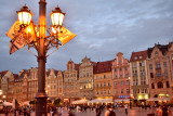 Market place at dusk