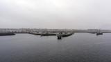 Le port de Sept-Îles par un matin brumeux