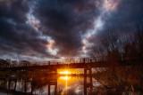 Black Bridge Winter Sunset