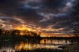 Black Bridge - Winter Sunset