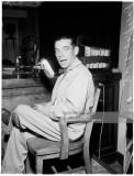Waller trial, 6 March 1958. Ralph 'Blackie' Cunningham (prosecution witness);Mrs Marjorie Waller -- 28 years;Joe Cuellar (motorc