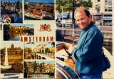 Lors d'une randonnée sur les canaux d'Amsterdam