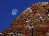 Moonset in Zion NP