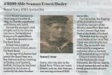 1911 - ERNEST HOSIER, J9209, A GANGES BOY WHO DIED AT JUTLAND, DETAILS WITH PHOTO ON THE IMAGE..jpg