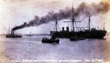 1922, 31ST MAY - DUTCH TUG TOWING AWAY HMS GANGES