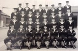 1950, 2ND MAY - JOSEPH HARRIS, I AM 2ND LEFT FRONT ROW. SOME NAMS - HALES, BLEEK, ROLF, HALLIDAY..jpg