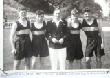 1951-52 - DAVID BRIAN DURNFORD, COLLINGWOOD CLASSES 362 & 363, LT. CDR. CARPENTER, SUB. LT. HATHAWAY, CPOs CHADWICK AND TOWNSEND