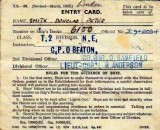 1952 OR LATER - DOUG SMITH, NEW ENTRY DIVISION CARD..jpg