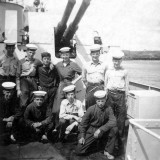 1952, 6TH MAY - ROBERT HANLEY, ANSON DIVISION, SOME OF US WHO WERE DRAFTED TO LARGO BAY..jpg
