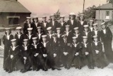 1956 - TERRY MARTIN, SPARKERS AND BUNTINGS WHO JOINED IN MARCH.  I AM 4TH FROM LEFT..jpg