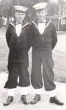 1956, 4TH SEPTEMBER - IAN THOMSON, RODNEY, 27 CLASS, WILLIAM HAY ON LEFT MYSELF ON RIGHT..jpg
