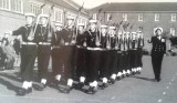 1958-1959 - JOHN POTTER,  201, BUNTINGS CLASS, 201 AND 392 CLASSES GUARD WITH CRS STANKISTE, MARCHING OFF..jpg