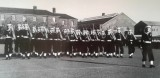 1958-1959 - JOHN POTTER,  201, BUNTINGS CLASS, 201 AND 392 CLASSES GUARD, J.T. FORD LEADING THE SALUTE..jpg