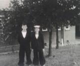 1958-1959 - JOHN POTTER,  201, BUNTINGS CLASS, MYSELF WITH STEWARD BRANNAN..jpg