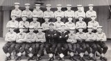 1958, OCTOBER - ANTHONY STROUGHTON, 17 RECR., AFTER PROMOTION TO JNR. INSTR., WITH MY CLASS OF NEW ENTRIES..jpg