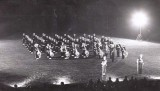 1959, SEPTEMBER - DAVE SCHULZE, BAND PLAYING WITH R.M.B. IN 1960, I WAS SILVER BUGLER ON LEFT OF 6TH COLUMN FROM FRONT.