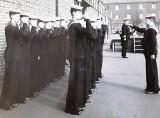 1960 - RICHARD WYATT, HAWKE, 170 CLASS, PIPING THE CAPT. ABOARD..jpg