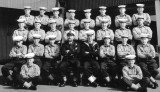 1960, MARCH - RICHARD W. ROE, ANNEXE,EXPLORER MESS, CPO POTTEN, JI DOWNS, BRIAN TRAPNELL 2ND RIGHT FRONT ROW NOW CTB.