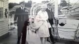 1961 The Queens visit. With Captain J.R. Gower. DSC and Commander T.S. Trick DSC
