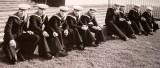 1961 - DONALD STUART, FINAL OF THE RN CUP GANGES V AERIEL, GANGES BOYS WAITING AT PORTMAN ROAD FOR THE START..jpg