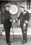 1962, 14TH FEBRUARY - JOHN WABY, CAPT. GOWER HANDING OVER..jpg