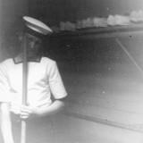 1963 - TREVOR HOLMES' PHOTO OF ALAN BROWN, DRAKE, 40 MESS, 920 CLASS. 3..jpg