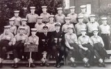 1963, 3RD SEPTEMBER - CHRIS HJARNE, BENBOW, 28 MESS, 750 CLASS, I AM MIDDLE ROW TO RIGHT OF CHIEF..jpg