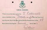 1963, 30TH APRIL - JOHN CORDINER, 58 RECR., DREADNOUGHT,  NEW ENTRY BOXING CERT.