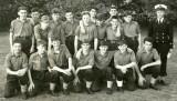 1964 - JOHN GARSIDE, RODNEY, 16 MESS, FIELD GUN PRACTICE. INCLUDES LESLIE HARWOOD CENTRE STANDING FROM 14 MESS..jpg