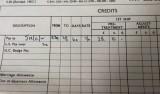 1964, 22ND SEPTEMBER - ALBERT CALLAND, GRENVILLE, 22 MESS, PAY RECORD, CLOSE UP..jpg
