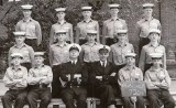 1965 - COLIN BLAIR, 30 RECR., FROBISHER, 720, I AM 2ND LEFT REAR, LT. COOMBE, CAF [AE] GEOFF MUTIMER, ALL WENT INTO FAA.