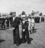 1965 - IAN PHILLIPS, MYSELF WITH ROB WORGAN ON OPEN DAY..jpg